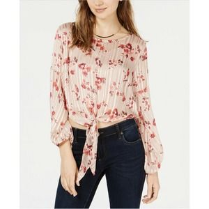Crave Fame Crop Top Rose Dust M New